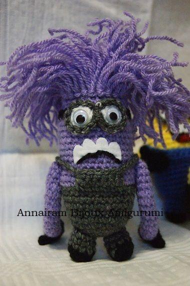 Creare Amigurumi Minion Viola amigurumi creativapp stoffa e lana
