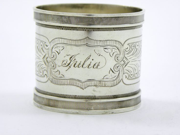 """Sterling+Silver+Napkin+Ring+Cup+""""Julia"""""""