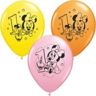 30cm Minnie Mouse 1st Birthday Pkt8 $8.95  A113865
