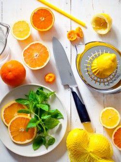 citron och apelsin