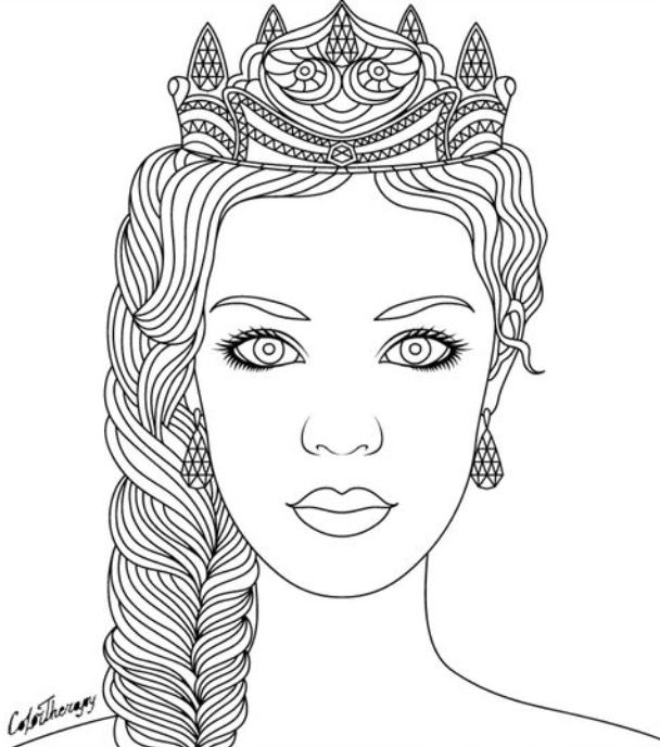color app coloring pages | 875 best Beautiful Women Coloring Pages for Adults images ...