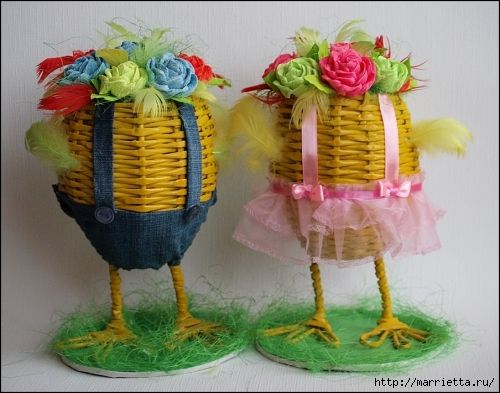 MK. IDEAS - Easter eggs from newspaper tubules. - Пасхальные яйца из газетных трубочек. Идеи и мастер-класс (2) (500x393, 165Kb)