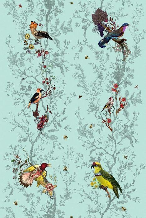 Birds n Bees fabric by Timorous Beasties