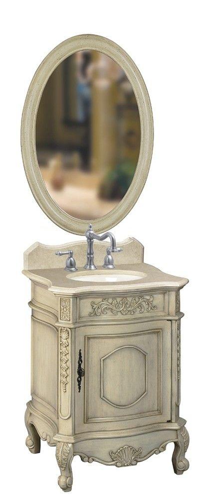 Belle Foret 80030R Single Basin Vanity In Antique Parchment