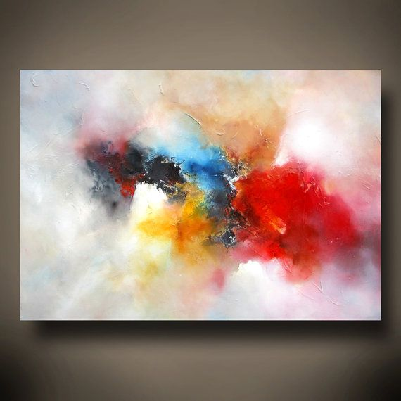 Large Canvas Abstract Oil Painting by por SimonkennysPaintings