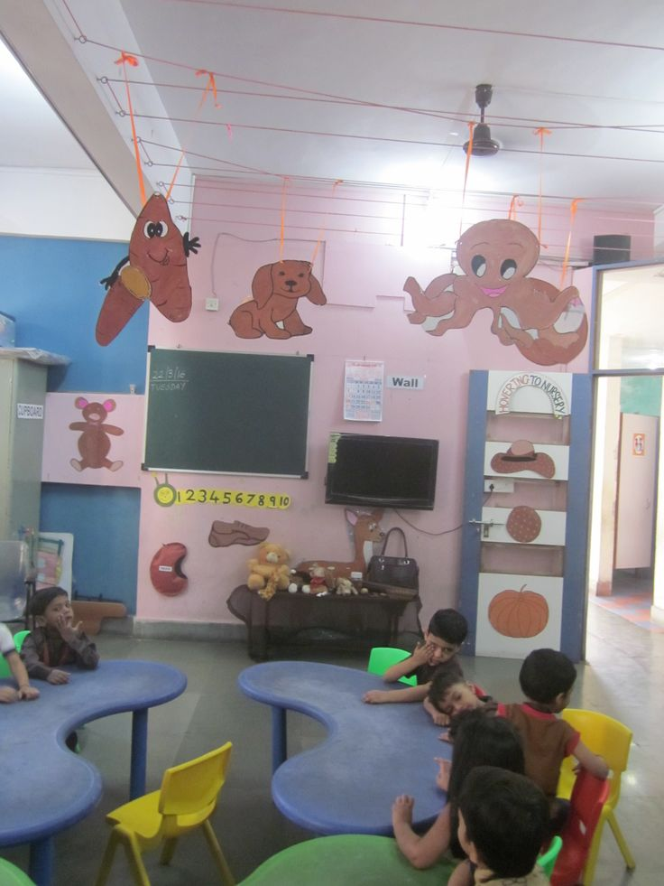 Teacher decorate classroom for brown  colour day celebration  to teach children. #grace #learning #brown colour