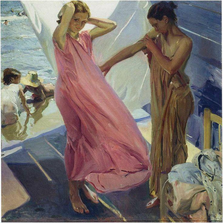 Joaquin Sorolla y Bastida, Dopo il bagno - After the bath, Valencia (1916) —