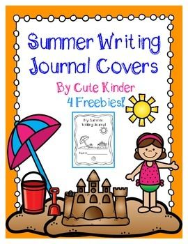 Summer Writing Journal Cover! Free printables for writing journal covers! Very cute and easy to use your students will love them.