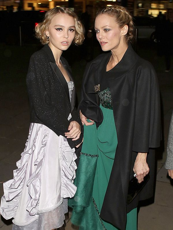 Lily-Rose Depp and Vanessa Paradis