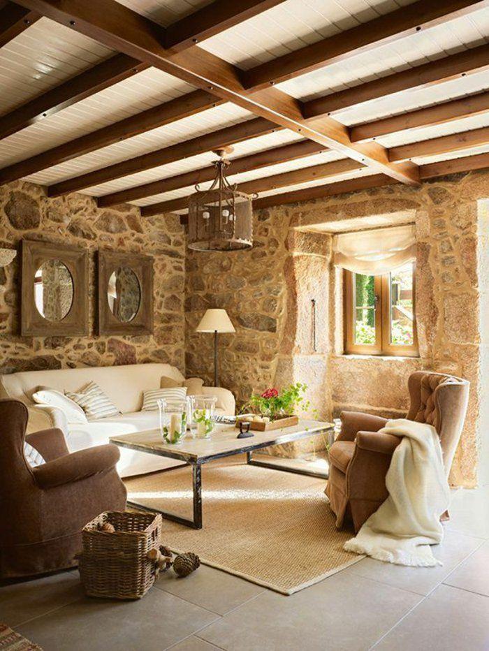 Les 25 meilleures id es de la cat gorie murs en pierre - Fausse pierre apparente interieur ...