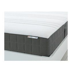 HÖVÅG Pocket sprung mattress - 180x200 cm, medium firm/dark grey - IKEA