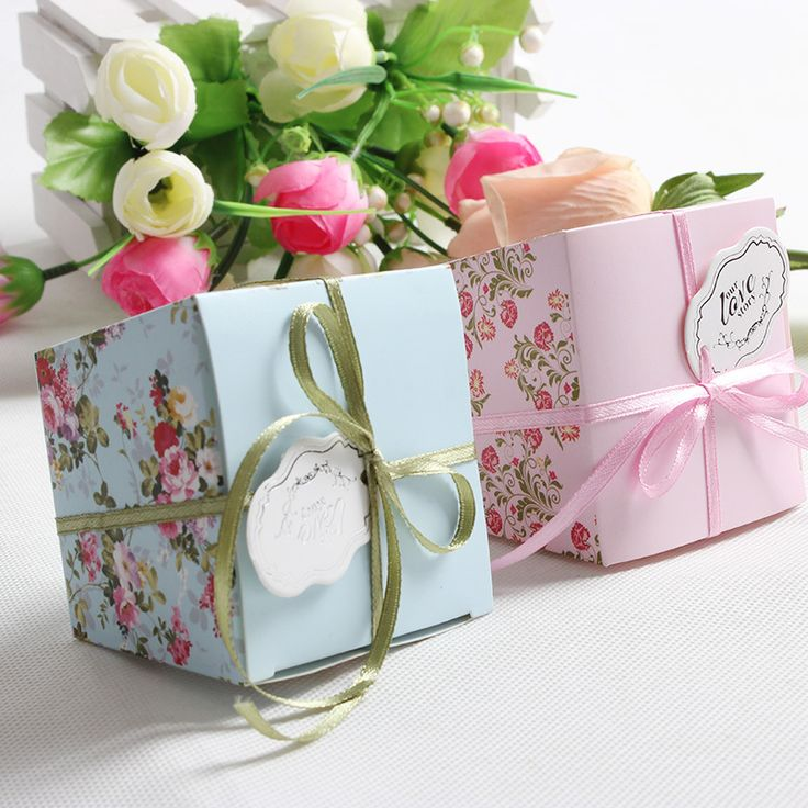 Cheap box cd, Buy Quality box bag directly from China box hanger Suppliers:     100 Pcs/lot Free Shipping Blue/Pink Floral Flower Trapezoid Wedding Favor Candy Boxes Gift Box Sugar Candy Box With