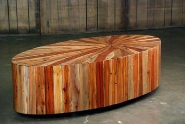 Mecox Gardens - Starburst Elliptical Coffee Table Detail