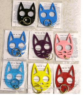 These cute kitty keychains are not toys, but are in fact a very serious defense weapon Self Defense Products Wild Kat Keychains