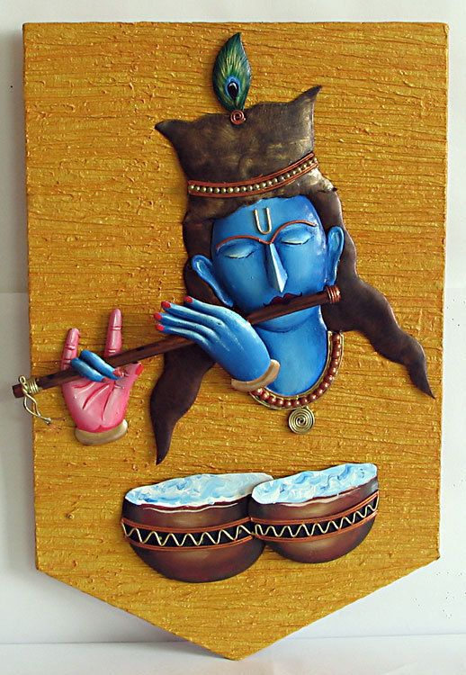 Lord Krishna - Iron Craft Wall Hanging for Home Decor