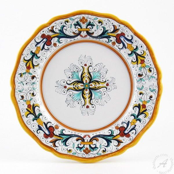 Ricco Deruta Dishware, Dinner Plates, Handmade in Italy – thatsArte.com $85