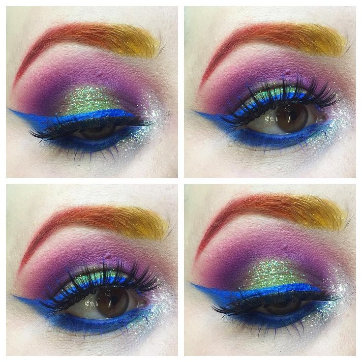 Details! @sugarpill shadows with @maccosmetics shadowy lady to deepen. @stilacosmetics diamond dust in the tear duct. @urbandecaycosmetics distortion glitter liner and chaos pencil. @sephora blue liner. @eylureofficial @vegas_nay golden goddess lashes. @nyxcosmetics purple mascara on bottom lashes ��️��#makeup #eyeshadow #pride #pridemonth #pridemakeup #eyeliner #liner #wingedliner #lashes #falselashes #urbandecay #stilacosmetics #sugarpill #eylure #vegas_nay #nyxcosmetics #glitter #mua…