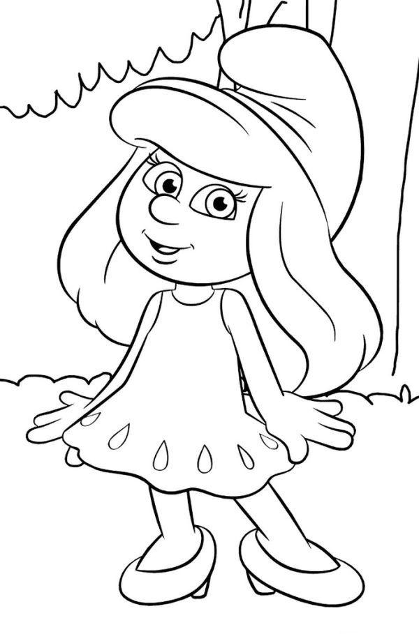 Cute Smurf Coloring Pages Printable Com Imagens Desenhos
