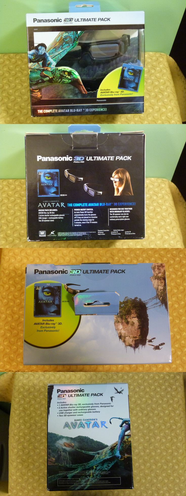 3D TV Glasses and Accessories: Rare Panasonic 3D Ultimate Pack - Avatar 3D Blu-Ray And 2 3D Glasses - New Sealed BUY IT NOW ONLY: $129.99