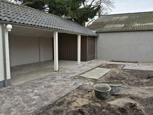 Terras met overkapping tuin pinterest met - Vernieuwing p etite badkamer ...