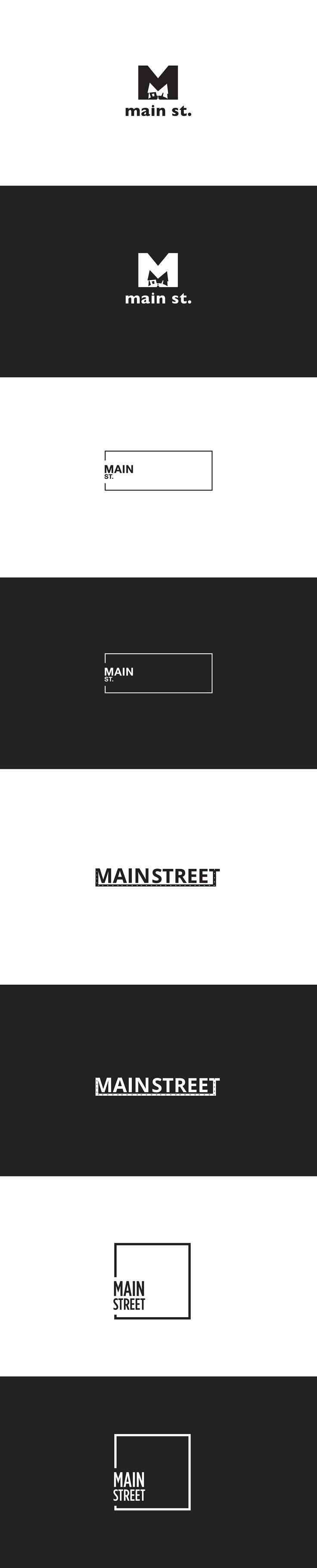 Main Street Themes Logo Design Concepts from Kelowna Marketing Agency, Twirling Umbrellas Ltd.