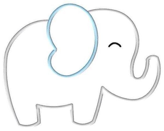 Шаблон слон для открытки, открыткой