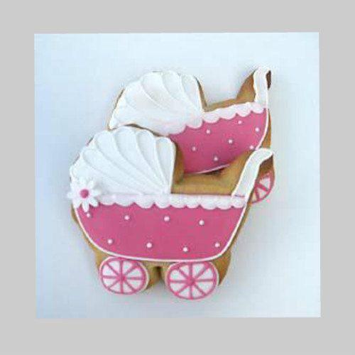 Dozen Baby Carriage Sugar Cookies, Baptism Cookies, Hand Decorated Sugar Cookies, Handmade Cookies