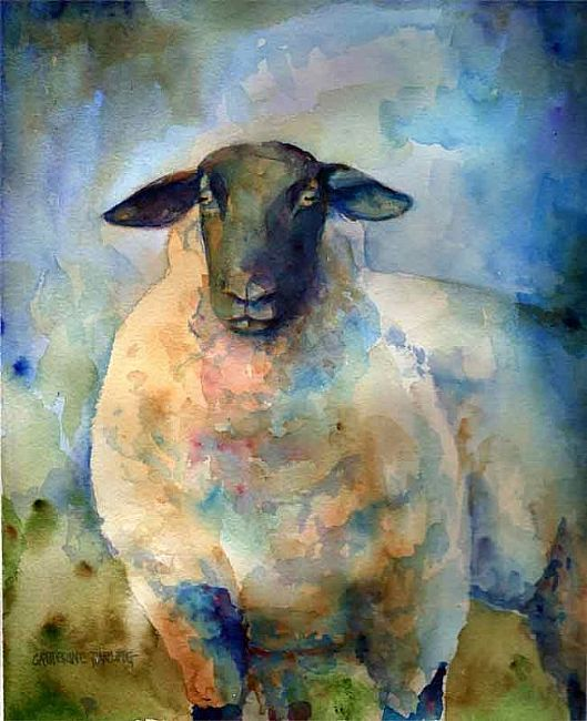suffolk sheep | Suffolk Sheep - by Catherine Darling Hostetter from Paintings ...