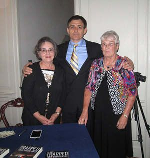 Writers' Club members with Charlotte NC author and peace activist Sam Wazan. The club sponsored his lecture in Wadesboro.