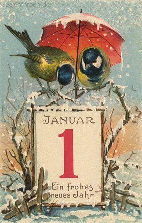Cartes anciennes de bonne année