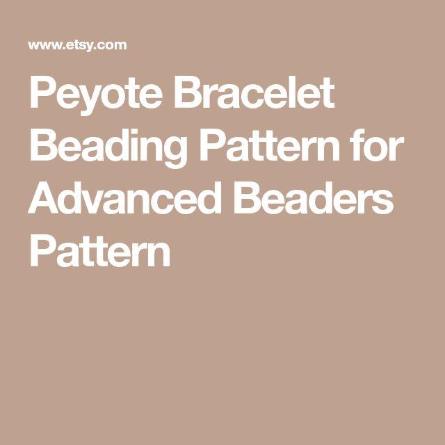 Peyote Bracelet Beading Pattern for Advanced Beaders Pattern