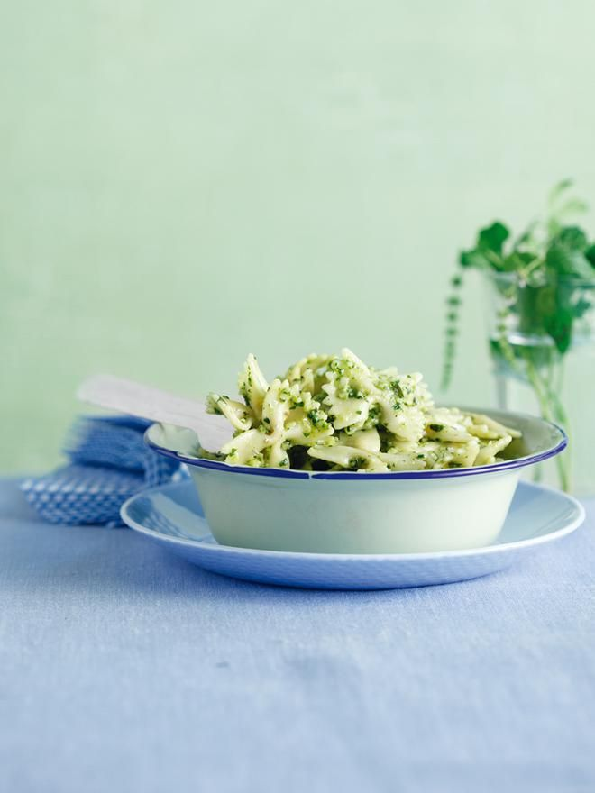 Φιογκάκια+με+πράσινο+pesto