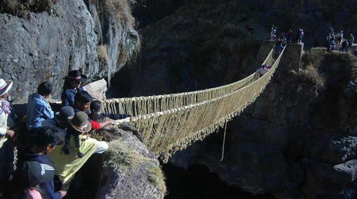 De altura: estos puentes de cuerda no son aptos para cardiacos