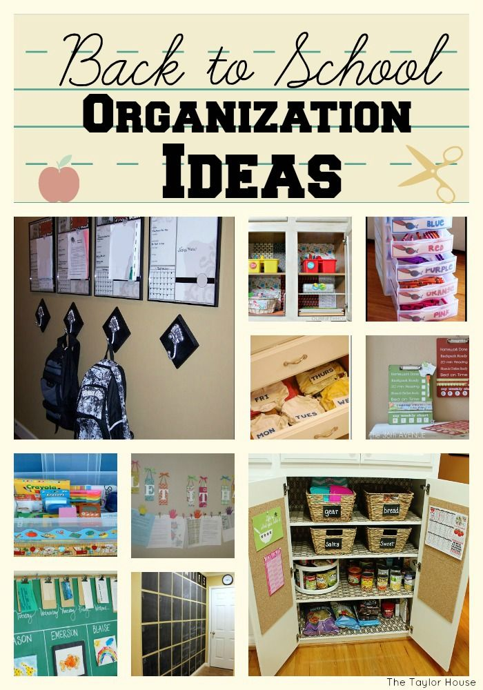 Back to school, back to school organization, homework station