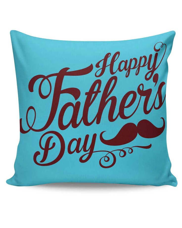 Happy Father's Day Brown Typography Cushion Cover