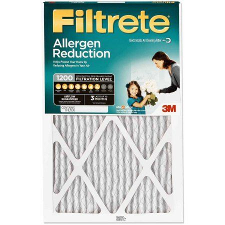 Filtrete 1200 Allergen Reduction Air and Furnace Filter, Available in Multiple Sizes, 1pk, White