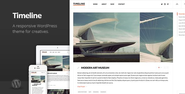 Timeline Minimal Responsive WordPress Theme - Creative WordPress