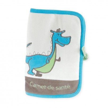 """Complétez la collection """"Dragon Mignon"""" avec cette accessoire pratique et utile: protège carnet de santé tout doux"""