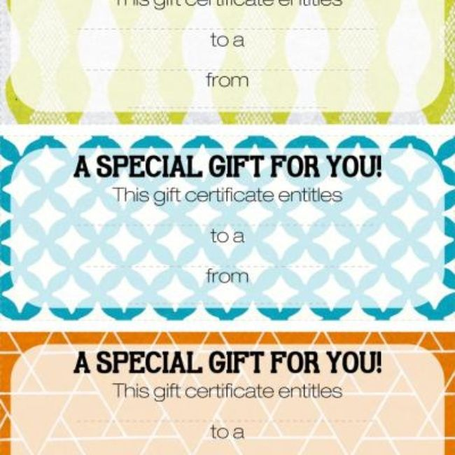 Best Gift Certificates Images On   Gift Cards Gift