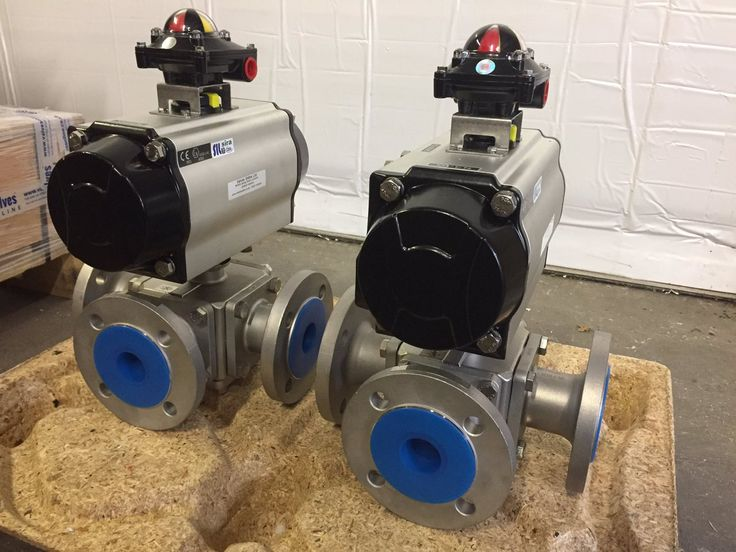"""2"""" Pneumatic Actuated 3 Way Flanged Stainless Steel Ball Valves with switchbox - available online: http://www.valvesonline.co.uk/volt-pneumatic-actuated-3-way-flanged-stainless-steel-ball-valve.html #valves #ballvalves #ballvalve #3way #threeway #3wayballvalve #threewayballvalve #flanged #stainlesssteel #actuated #actuator #pneumaticactuator #pneumatic #switchbox #actuatedvalve #actuatedvalves #actuatedballvalve #actuatedballvalves #engineering"""