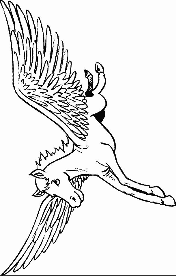 97 best pegasus to color images on pinterest for Pegasus coloring pages