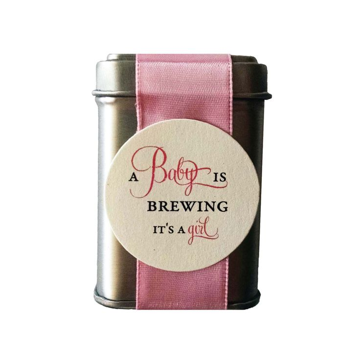 DIY A Baby Girl is Brewing Shower Favors Includes Tea - set of 9