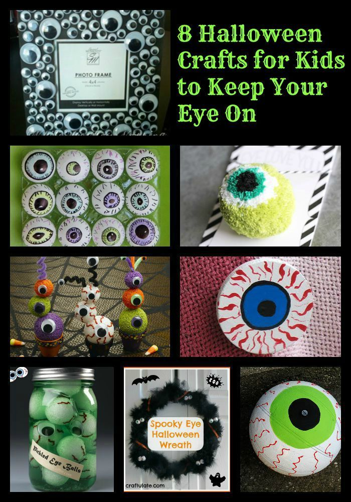 Spooky Halloween Eyeball Crafts - Keeping Life Sane