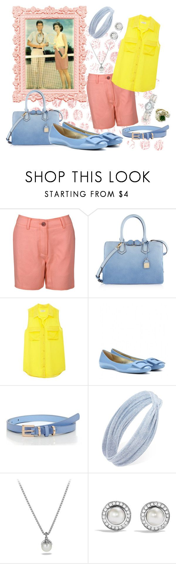 """""""Jackie O inspired"""" by leanne-mcclean ❤ liked on Polyvore featuring Missoni, Henri Bendel, Equipment, Roger Vivier, Forever 21, David Yurman and Bling Jewelry"""