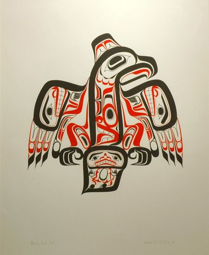 Haida Eagle (1978) by Bill Reid, Haida artist (BR1978-01)