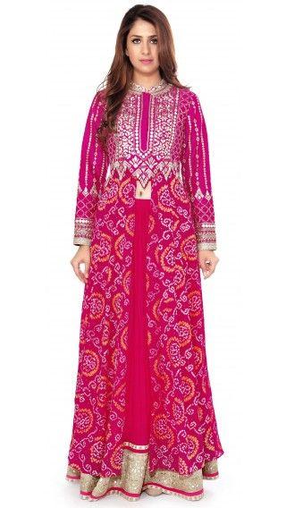 Buy Anita Dongre's Pink Bandhani Lengha Online - Jiva