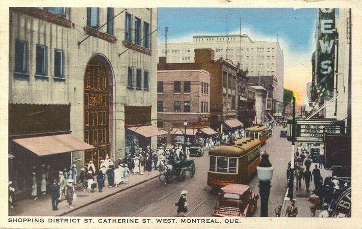 1892 Le tramway électrique entre en service à Montréal en 1892. Ce moyen de transport favorise l'essor commercial de la rue Sainte-Catherine au cours du 20e siècle.