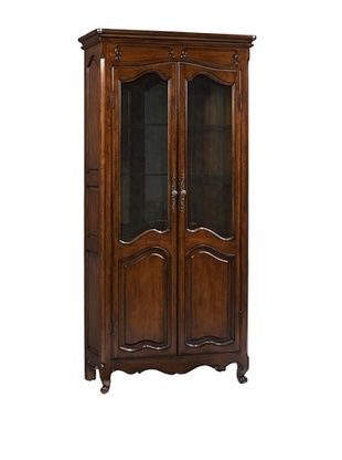 French Heritage Provence Curio Cabinet, Antique Cherry