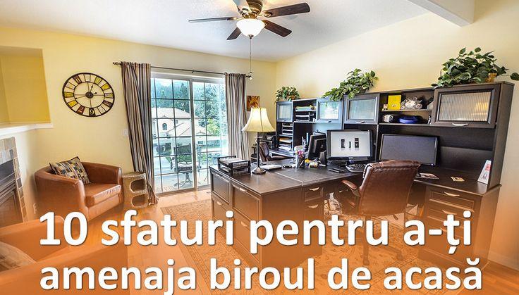 Lucrează de-acasă cu stil! Iată 10 sfaturi pentru a crea un spațiu de lucru fermecător, dar și practic.