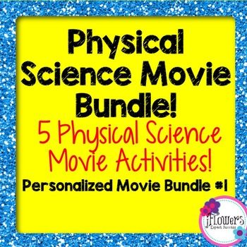 This is a bundle of my Physical Science Movie Questions! You are receiving over a 25% discount by purchasing this bundle.Included in this download is the following:Physical Science Movie Questions to accompany Shark Tale!Physical Science Movie Questions to accompany Frozen!Physical Science Movie Questions to accompany Inside Out!Physical Science Movie Questions to accompany Cloudy with a Chance of Meatballs!Physical Science Movie Questions to accompany Up!